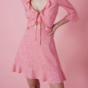 For Love and Lemons Nostalgic Tie Front Dress